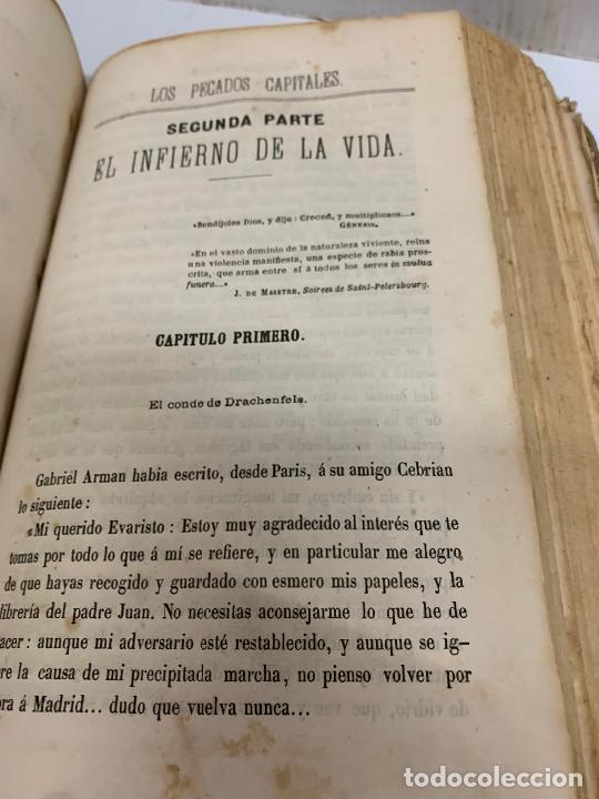Libros antiguos: LOS PECADOS CAPITALES, Francisco J. Orellana. 1865-1866, 2 tomos en un solo libro - Foto 7 - 213418786