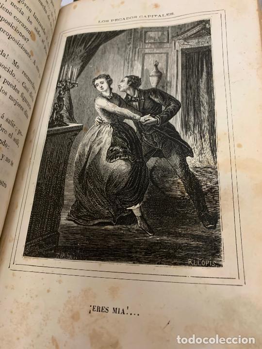Libros antiguos: LOS PECADOS CAPITALES, Francisco J. Orellana. 1865-1866, 2 tomos en un solo libro - Foto 10 - 213418786