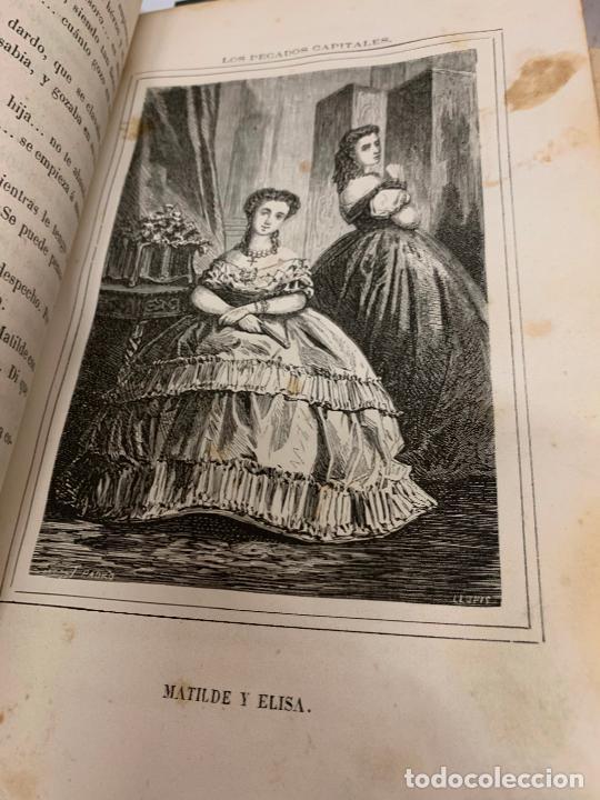 Libros antiguos: LOS PECADOS CAPITALES, Francisco J. Orellana. 1865-1866, 2 tomos en un solo libro - Foto 13 - 213418786