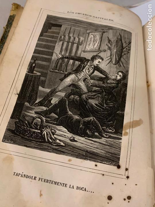 Libros antiguos: LOS PECADOS CAPITALES, Francisco J. Orellana. 1865-1866, 2 tomos en un solo libro - Foto 17 - 213418786