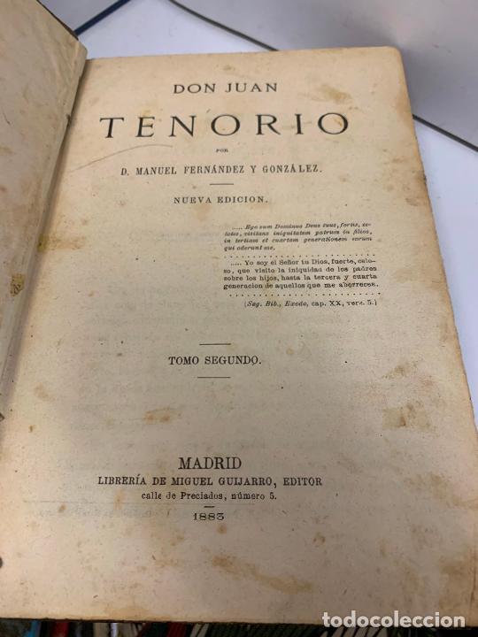 Libros antiguos: DON JUAN TENORIO, Manuel Fernandez Gonzalez 1883, 2 tomos - Foto 2 - 213424528
