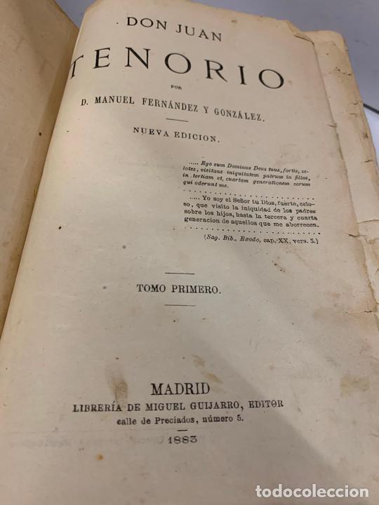 Libros antiguos: DON JUAN TENORIO, Manuel Fernandez Gonzalez 1883, 2 tomos - Foto 25 - 213424528