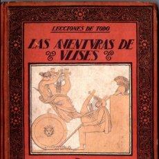 Libros antiguos: CARLES RIBA : LAS AVENTURAS DE ULISES (MUNTAÑOLA, 1922). Lote 213454792