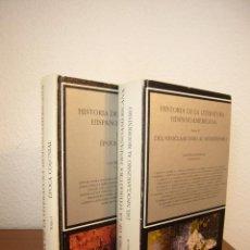 Libros antiguos: HISTORIA DE LA LITERATURA HISPANOMERICANA (CÁTEDRA) TOMOS I Y II: ÉPOCA COLONIAL A MODERNISMO. Lote 213489623