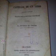Libros antiguos: VIAJANDO POR LAS PROVINCIAS VASCONGADAS, ANTONIO DE TRUEBA, 1ª EDICIÓN 1866 PAÍS VASCO. Lote 213522530