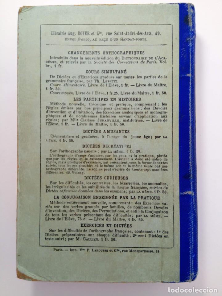 Libros antiguos: LES JEUDIS DE LINSTITUTRICE - PIERRE LAROUSSE ET ALFRED DEBERLE (EN FRANCÉS) - Foto 2 - 213553090