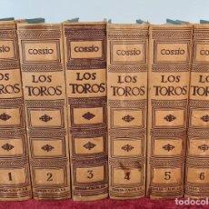 Libros antiguos: LOS TOROS. TRATADO TÉCNICO E HISTÓRICO. JOSE MARIA COSSÍO. 6 VOL. 1974.. Lote 213597642