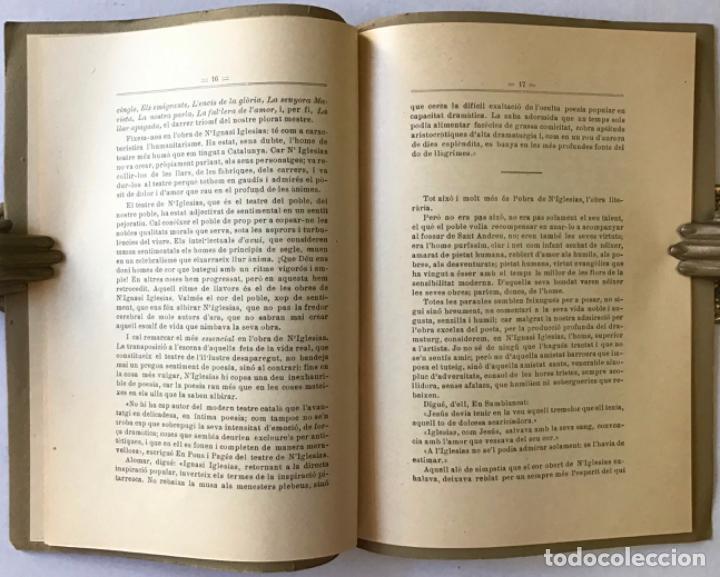 Libros antiguos: LA GLÒRIA SORDA DE NIGNASI IGLESIAS. - PUIG PUJADES, J. - Foto 3 - 123233556