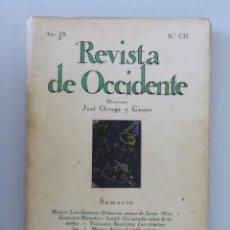 Livres anciens: REVISTA DE OCCIDENTE Nº 102 (CII) // 1931 // ORNAMENTACIÓN DE MARUJA MALLO // MARTÍN LUIS GUZMAN. Lote 213879523