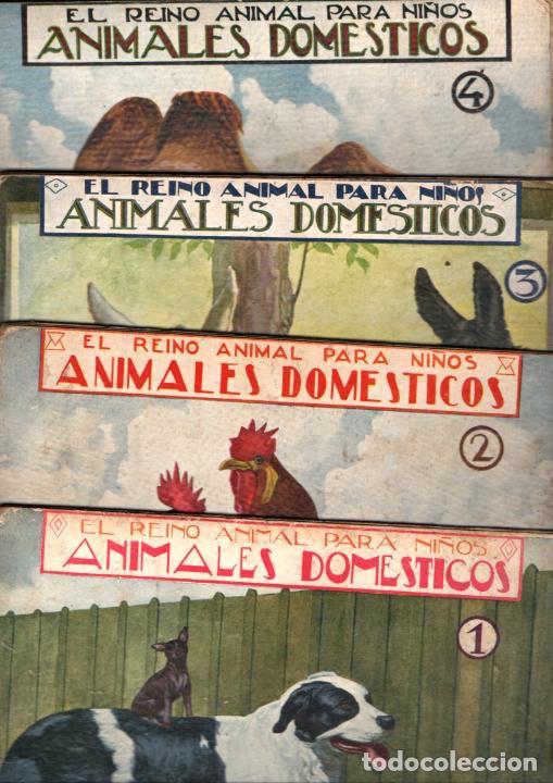 EL REINO ANIMAL PARA NIÑOS SOPENA : ANIMALES DOMÉSTICOS - 4 VOLÚMENES (Libros Antiguos, Raros y Curiosos - Literatura Infantil y Juvenil - Otros)