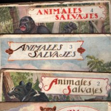 Libros antiguos: EL REINO ANIMAL PARA NIÑOS SOPENA : ANIMALES SALVAJES - 4 VOLÚMENES. Lote 213903316