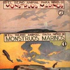 Libros antiguos: EL REINO ANIMAL PARA NIÑOS SOPENA : MONSTRUOS MARINOS - 2 VOLÚMENES. Lote 213903458