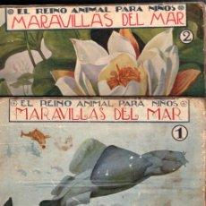 Libros antiguos: EL REINO ANIMAL PARA NIÑOS SOPENA : MARAVILLAS DEL MAR - 2 VOLÚMENES. Lote 213903586
