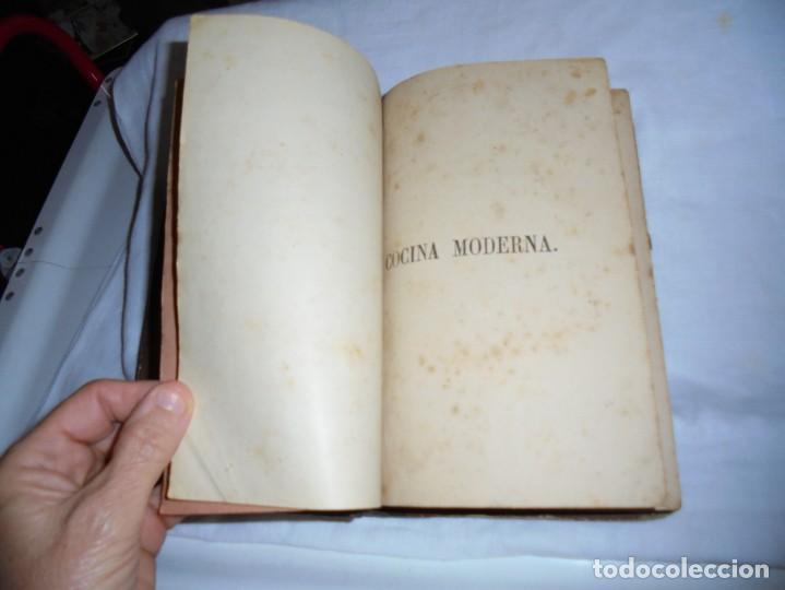 Libros antiguos: COCINA MODERNA.TRATADO COMPLETO DE COCINA PASTELERIA REPOSTERIA Y BOLLERIA.MADRID 1880.6ª EDICION - Foto 3 - 214039790