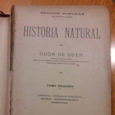 Libros antiguos: HISTORIA NATURAL ODON DE BUEN TOMO SEGUNDO CON GRABADOS CIENCIAS NATURALES. Lote 214055640