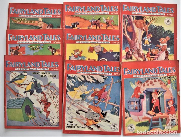 LOTE 8 NÚMEROS DE FAIRYLAND TALES, AÑOS 1934 A 1936 - IMPRESOS EN LONDRES - EN INGLÉS (Libros Antiguos, Raros y Curiosos - Literatura Infantil y Juvenil - Otros)