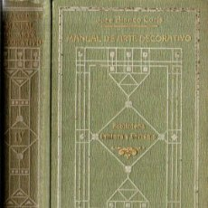Libros antiguos: J. BLANCO CORIS : MANUAL DE ARTE DECORATIVO TOMO II (1918). Lote 214339680