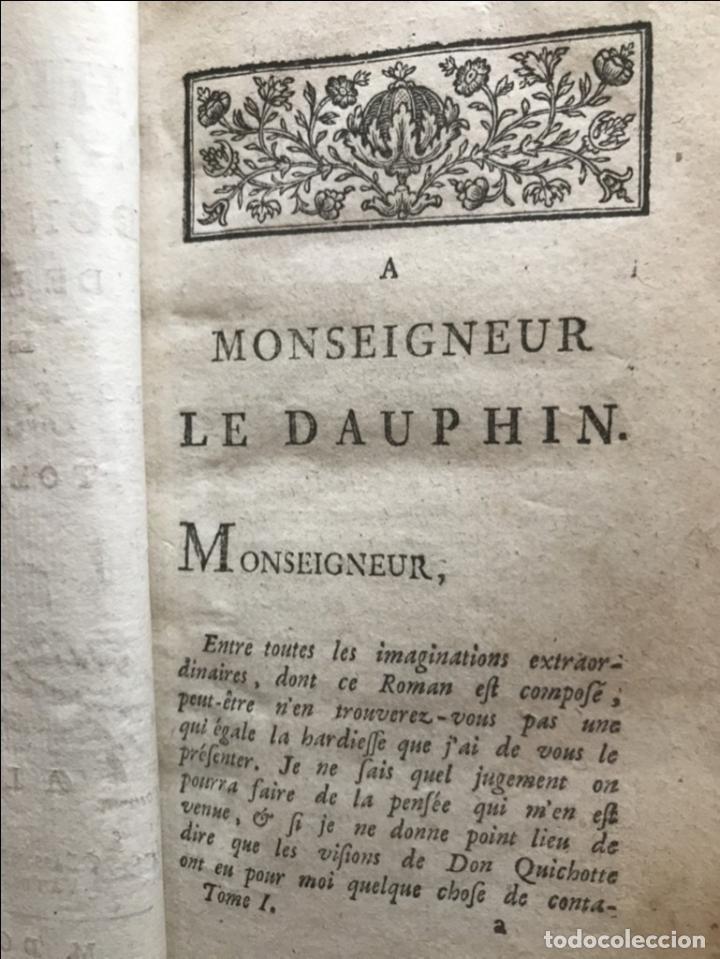 Libros antiguos: Histoire de ladmirable Don Quichote de la Mancha (6 tomos), 1773. M. de Cervantes. Grabados - Foto 7 - 214480975