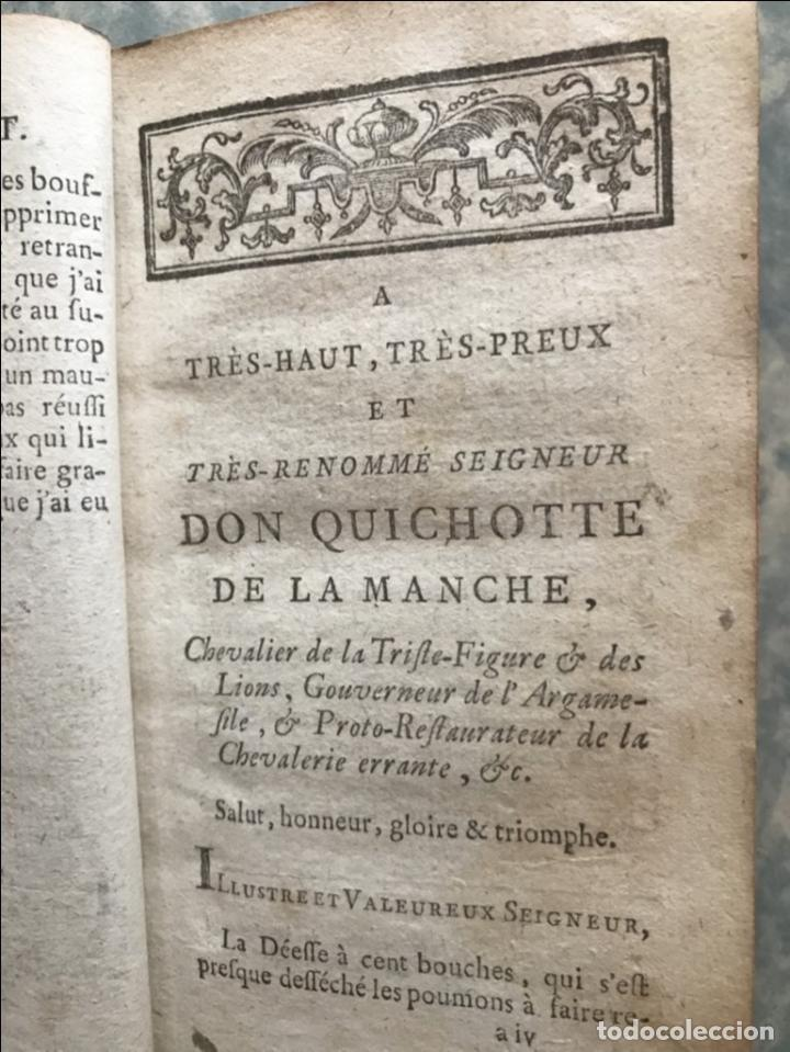 Libros antiguos: Histoire de ladmirable Don Quichote de la Mancha (6 tomos), 1773. M. de Cervantes. Grabados - Foto 9 - 214480975