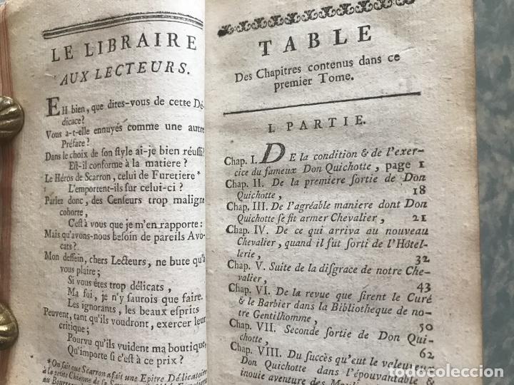 Libros antiguos: Histoire de ladmirable Don Quichote de la Mancha (6 tomos), 1773. M. de Cervantes. Grabados - Foto 10 - 214480975