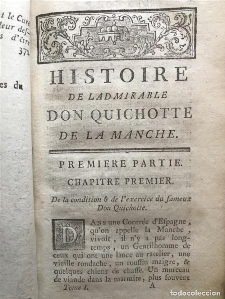 Libros antiguos: Histoire de ladmirable Don Quichote de la Mancha (6 tomos), 1773. M. de Cervantes. Grabados - Foto 11 - 214480975