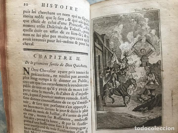 Libros antiguos: Histoire de ladmirable Don Quichote de la Mancha (6 tomos), 1773. M. de Cervantes. Grabados - Foto 12 - 214480975