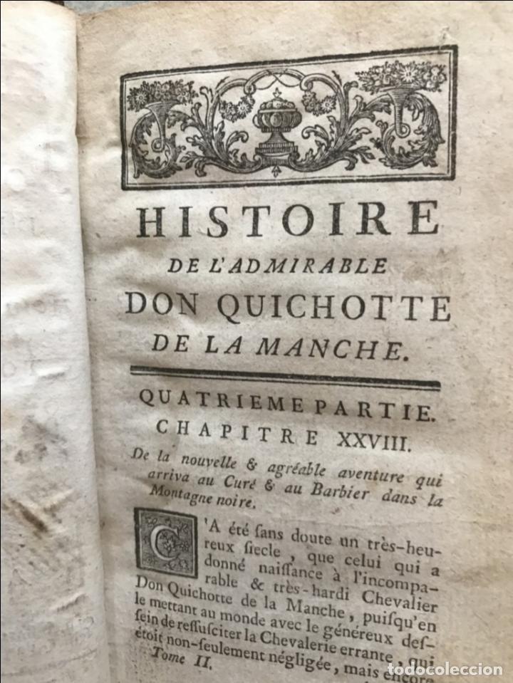 Libros antiguos: Histoire de ladmirable Don Quichote de la Mancha (6 tomos), 1773. M. de Cervantes. Grabados - Foto 22 - 214480975