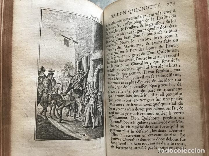 Libros antiguos: Histoire de ladmirable Don Quichote de la Mancha (6 tomos), 1773. M. de Cervantes. Grabados - Foto 25 - 214480975