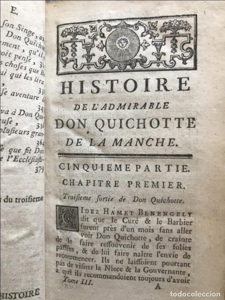 Libros antiguos: Histoire de ladmirable Don Quichote de la Mancha (6 tomos), 1773. M. de Cervantes. Grabados - Foto 32 - 214480975