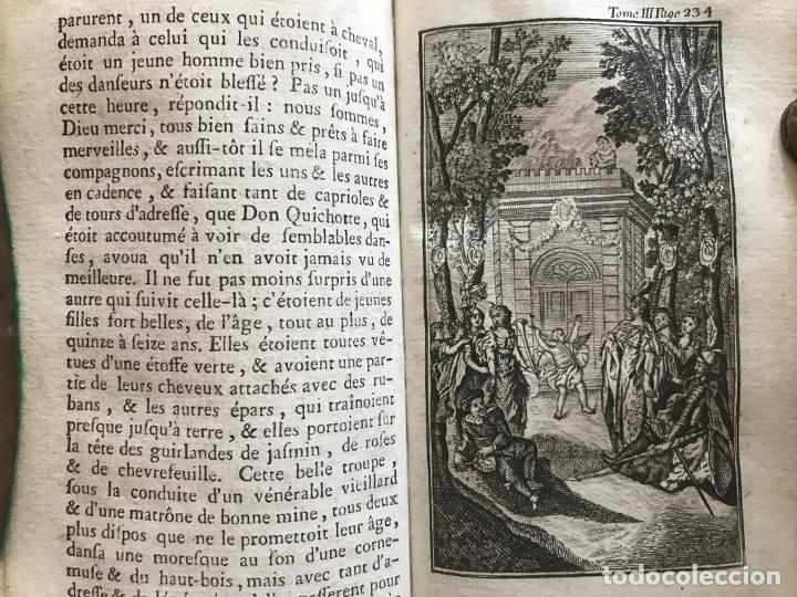 Libros antiguos: Histoire de ladmirable Don Quichote de la Mancha (6 tomos), 1773. M. de Cervantes. Grabados - Foto 37 - 214480975