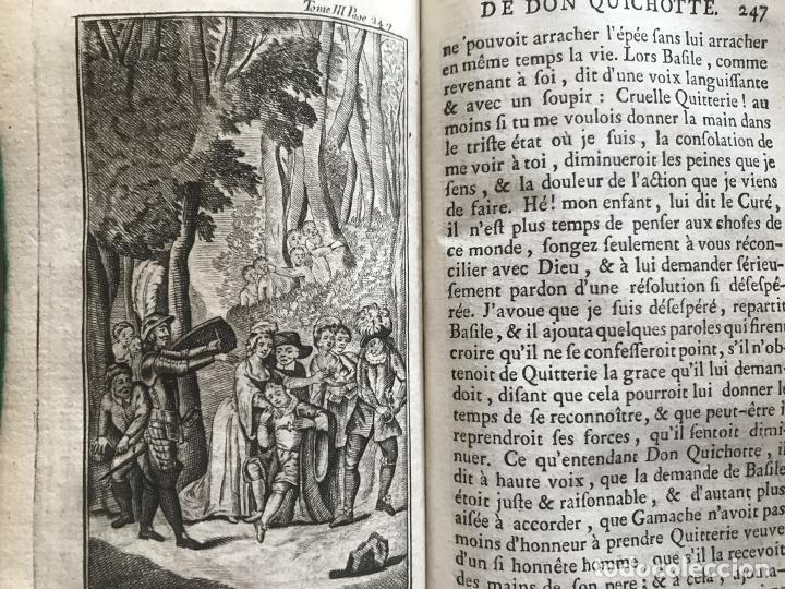 Libros antiguos: Histoire de ladmirable Don Quichote de la Mancha (6 tomos), 1773. M. de Cervantes. Grabados - Foto 39 - 214480975