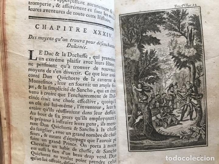 Libros antiguos: Histoire de ladmirable Don Quichote de la Mancha (6 tomos), 1773. M. de Cervantes. Grabados - Foto 51 - 214480975