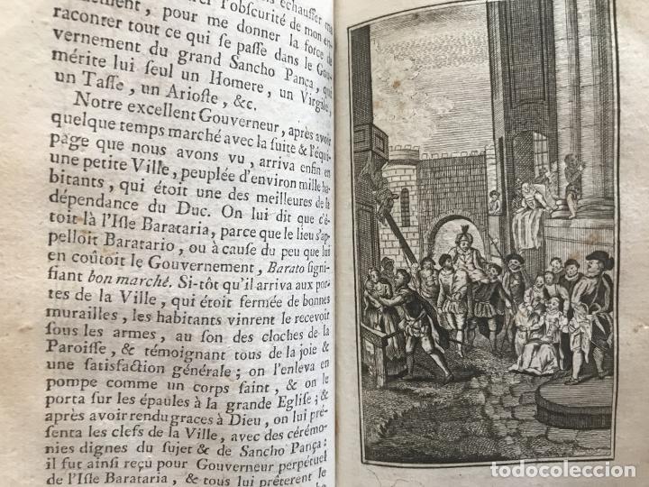 Libros antiguos: Histoire de ladmirable Don Quichote de la Mancha (6 tomos), 1773. M. de Cervantes. Grabados - Foto 59 - 214480975
