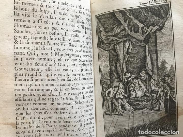 Libros antiguos: Histoire de ladmirable Don Quichote de la Mancha (6 tomos), 1773. M. de Cervantes. Grabados - Foto 61 - 214480975