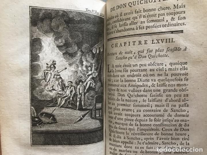 Libros antiguos: Histoire de ladmirable Don Quichote de la Mancha (6 tomos), 1773. M. de Cervantes. Grabados - Foto 68 - 214480975