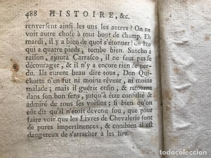 Libros antiguos: Histoire de ladmirable Don Quichote de la Mancha (6 tomos), 1773. M. de Cervantes. Grabados - Foto 70 - 214480975