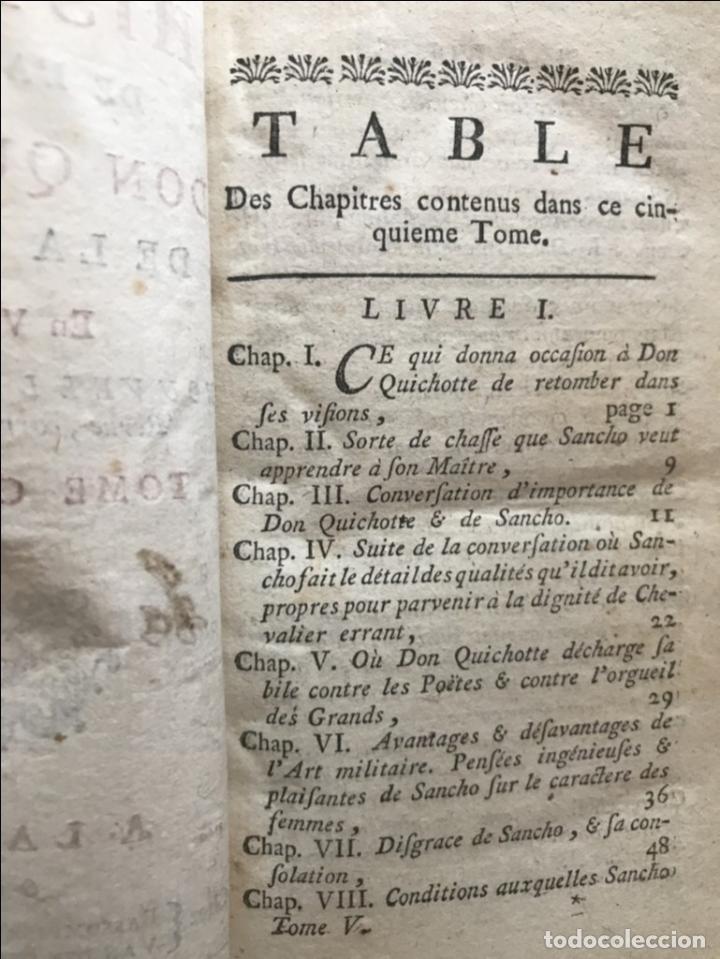 Libros antiguos: Histoire de ladmirable Don Quichote de la Mancha (6 tomos), 1773. M. de Cervantes. Grabados - Foto 74 - 214480975