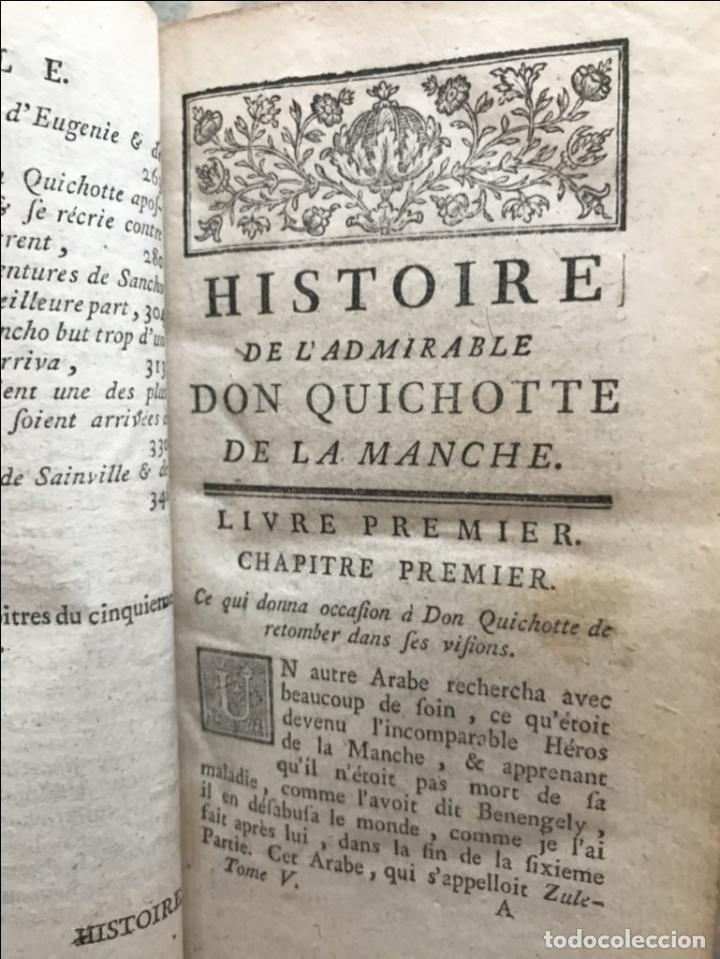 Libros antiguos: Histoire de ladmirable Don Quichote de la Mancha (6 tomos), 1773. M. de Cervantes. Grabados - Foto 75 - 214480975