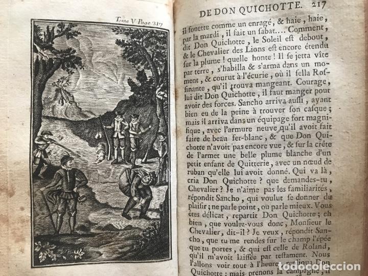 Libros antiguos: Histoire de ladmirable Don Quichote de la Mancha (6 tomos), 1773. M. de Cervantes. Grabados - Foto 79 - 214480975