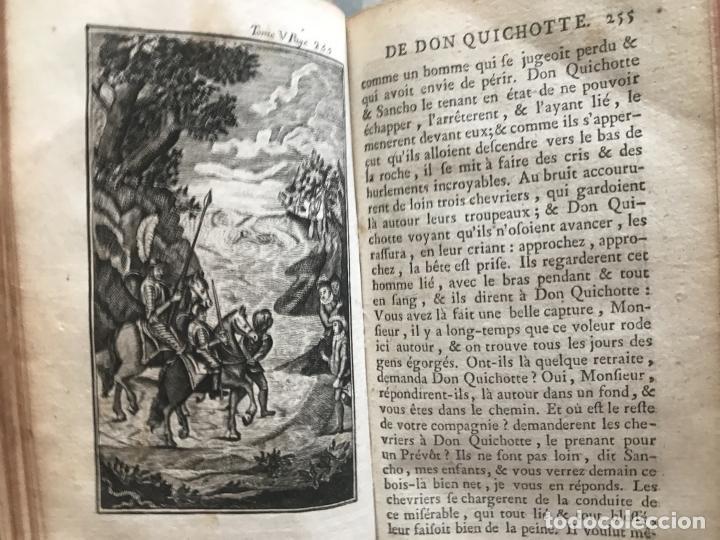 Libros antiguos: Histoire de ladmirable Don Quichote de la Mancha (6 tomos), 1773. M. de Cervantes. Grabados - Foto 81 - 214480975