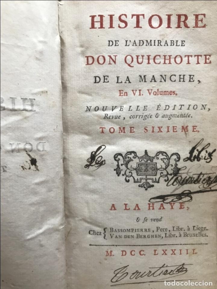 Libros antiguos: Histoire de ladmirable Don Quichote de la Mancha (6 tomos), 1773. M. de Cervantes. Grabados - Foto 85 - 214480975