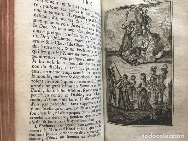 Libros antiguos: Histoire de ladmirable Don Quichote de la Mancha (6 tomos), 1773. M. de Cervantes. Grabados - Foto 88 - 214480975