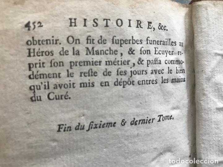 Libros antiguos: Histoire de ladmirable Don Quichote de la Mancha (6 tomos), 1773. M. de Cervantes. Grabados - Foto 93 - 214480975
