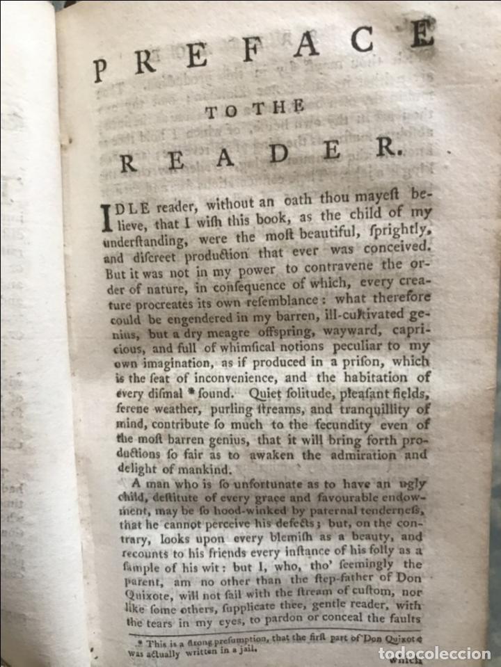Libros antiguos: The History and Adventures ...Don Quixote, 4 tomos, 1761. Cervantes/Smollett. 28 grabados de Hayman - Foto 17 - 214504323