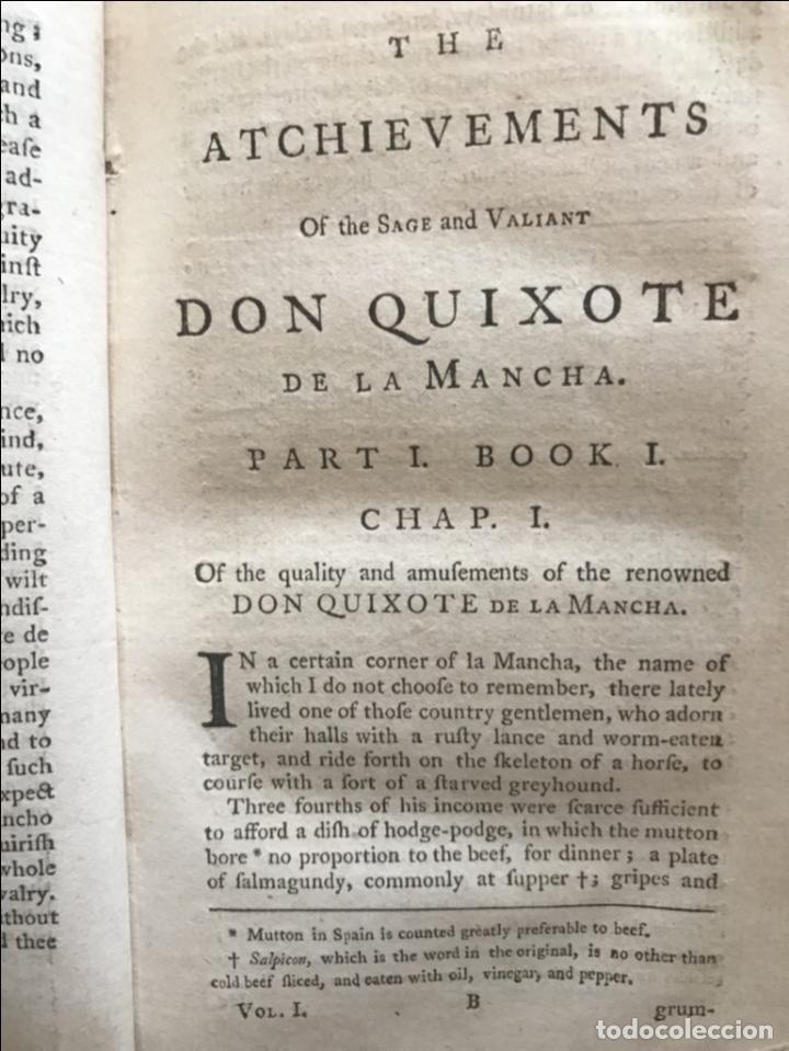 Libros antiguos: The History and Adventures ...Don Quixote, 4 tomos, 1761. Cervantes/Smollett. 28 grabados de Hayman - Foto 18 - 214504323