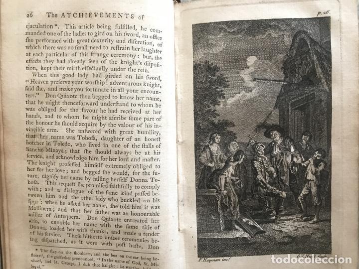 Libros antiguos: The History and Adventures ...Don Quixote, 4 tomos, 1761. Cervantes/Smollett. 28 grabados de Hayman - Foto 19 - 214504323