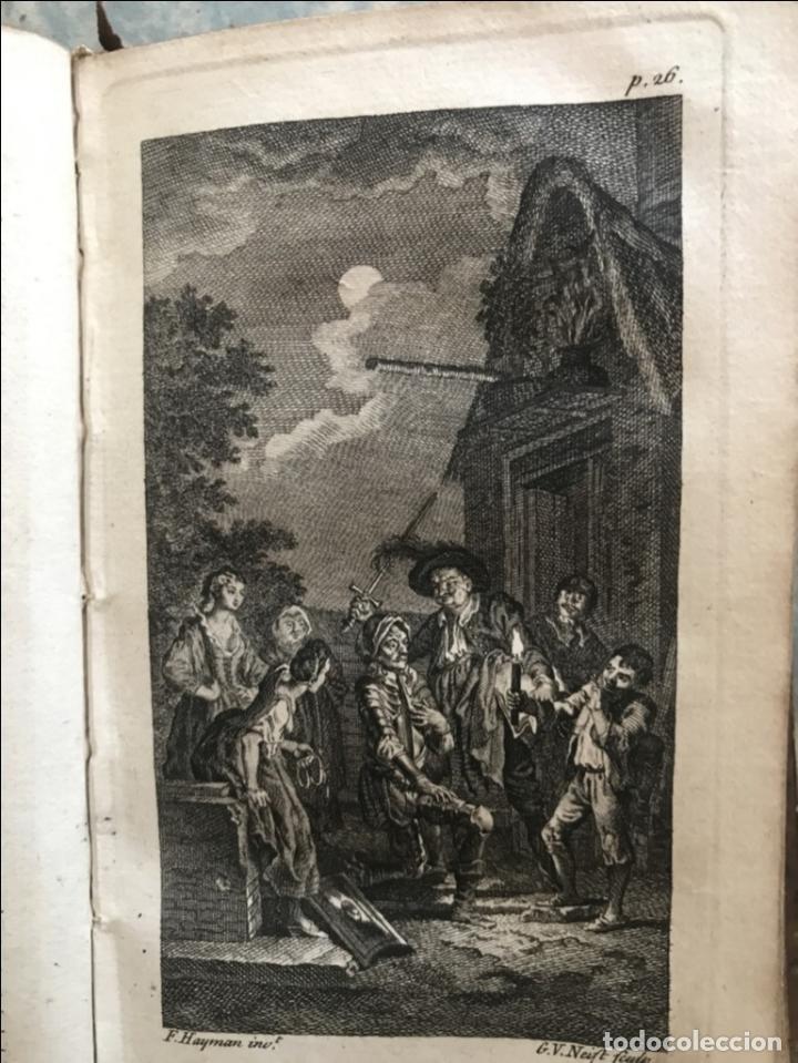 Libros antiguos: The History and Adventures ...Don Quixote, 4 tomos, 1761. Cervantes/Smollett. 28 grabados de Hayman - Foto 20 - 214504323