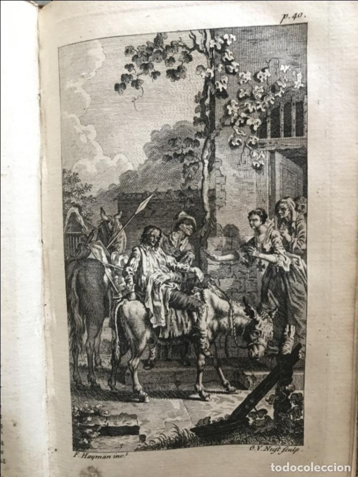 Libros antiguos: The History and Adventures ...Don Quixote, 4 tomos, 1761. Cervantes/Smollett. 28 grabados de Hayman - Foto 22 - 214504323