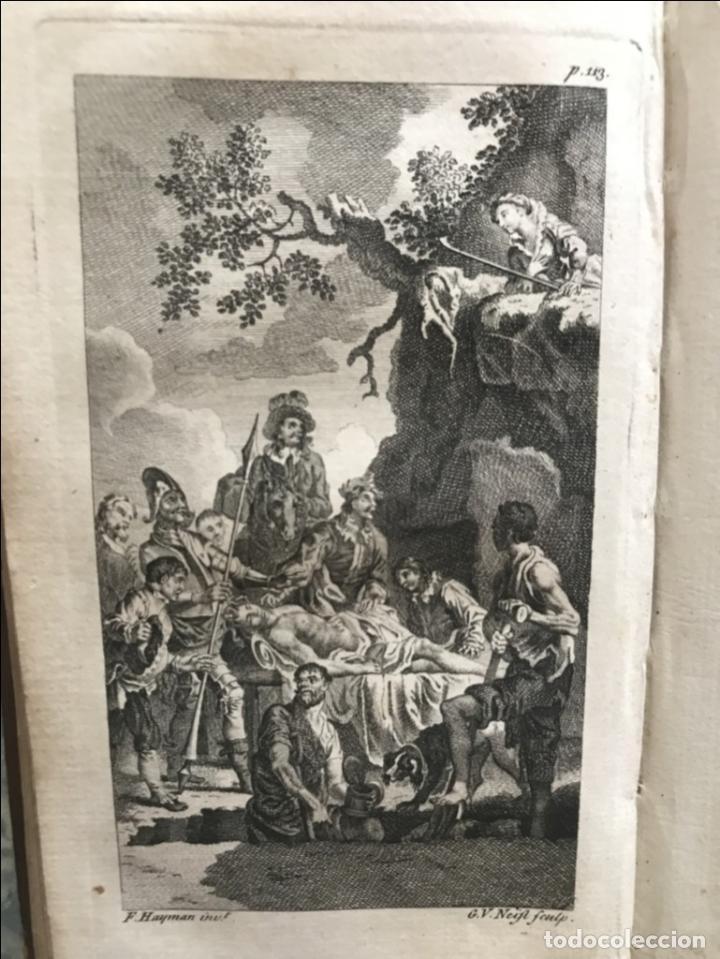 Libros antiguos: The History and Adventures ...Don Quixote, 4 tomos, 1761. Cervantes/Smollett. 28 grabados de Hayman - Foto 24 - 214504323