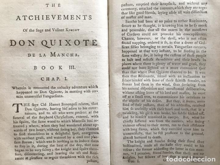 Libros antiguos: The History and Adventures ...Don Quixote, 4 tomos, 1761. Cervantes/Smollett. 28 grabados de Hayman - Foto 25 - 214504323